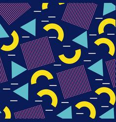 Memphis geometric seamless pattern repeating vector