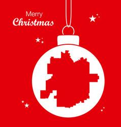 merry christmas theme with map of tulsa oklahoma vector image