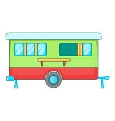 Mobile home icon cartoon style vector
