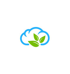 nature weather and season logo icon design vector image
