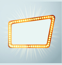 Night retro cinema circus announcement light show vector