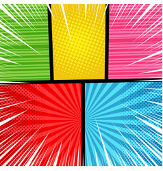 pop art bright composition vector image