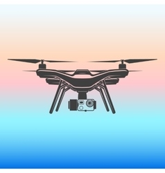 quadrocopter icon vector image