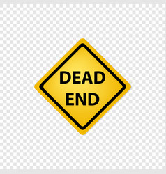 road sign dead end icon vector image