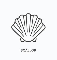 Scallop line icon outline vector