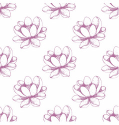 Seamless floral pattern hand drawing vector