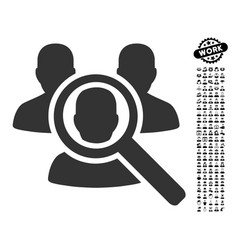 Search patient icon with professional bonus vector