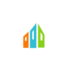 shape abstract building logo vector image