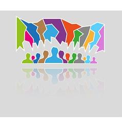 silhouette speak bubble vector image
