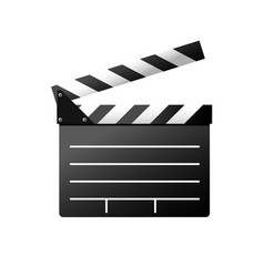 Simple icon of film slate - clapboard symbol vector