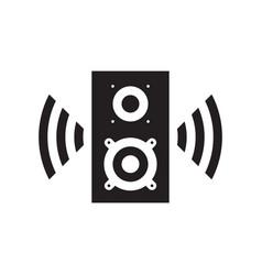 sound speaker black icon design music voice sign vector image