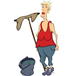 The cleaner cartoon vector image