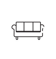 Thin color couch icon vector