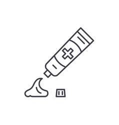 toothpaste line icon concept toothpaste vector image