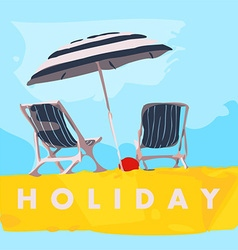 Travel holiday vector image