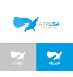 usa and arrow up logo combination vector image