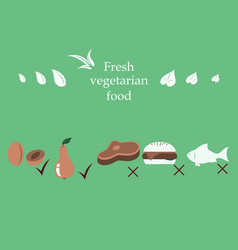Vegetarian menu for cafe and restaurants vegan vector