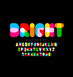 Vibrant style font vector
