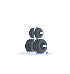 Weights rack for barbell vector