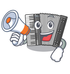 With megaphone according cartoons in the music vector