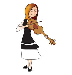 woman plying violin vector image