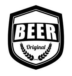 black beer related emblem icon image vector image