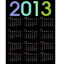 calendar 2013 3 vector image vector image