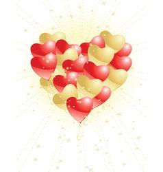 creative hearts vector image vector image