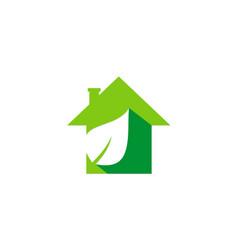 House green leaf garden logo vector