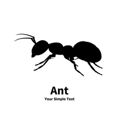 silhouette of ant vector image vector image