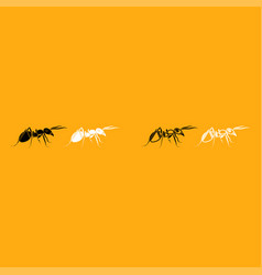 ant it is white icon vector image vector image