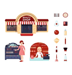 Beauty Store Icon Set vector image