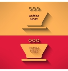 coffee cup made in modern flat design Cafe vector image