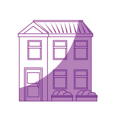 isolated home building vector image