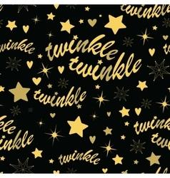 Twinkle stars seamless pattern vector