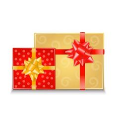 Two gift boxes with bows vector image
