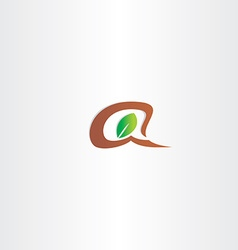 branch and leaf letter a logo vector image vector image