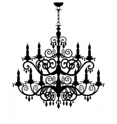 chandelier silhouette vector image