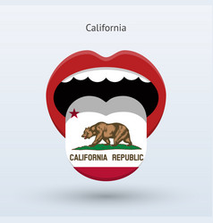 electoral vote of california abstract mouth vector image vector image