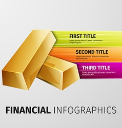 financial infographics vector image vector image
