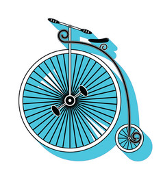 Vintage bike type 1 vector image vector image
