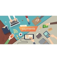 mobile payments mobile vector image