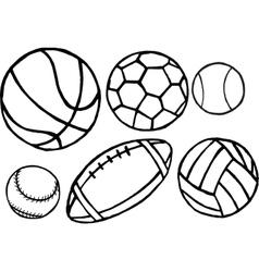 Set of different sport balls vector image vector image