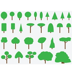 Simple drawn trees vector image vector image