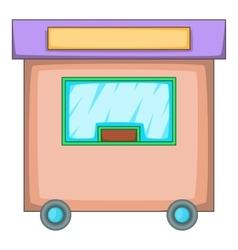 Travel trailer icon cartoon style vector image vector image
