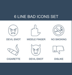 6 bad icons vector