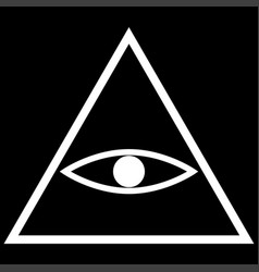 all seeing eye symbol the white color icon vector image