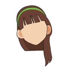 anime girl icon vector image