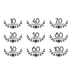 anniversary symbols set vector image