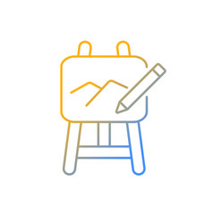 Art gradient linear icon vector